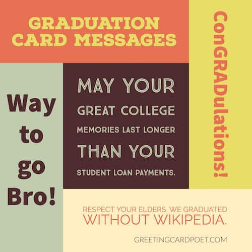 Graduation card messages sayings quotes wishes funny fun graduation card messages m4hsunfo Images