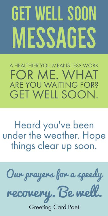 Get Well Soon Messages, Wishes, Greetings And Quotes | Recovery