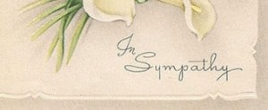 Sympathy Messages - What to Write on Sympathy card image