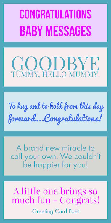 Congratulations Baby Messages and Sayings image
