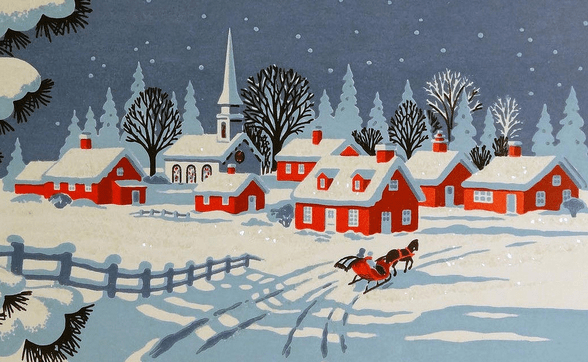 history of Christmas card giving image