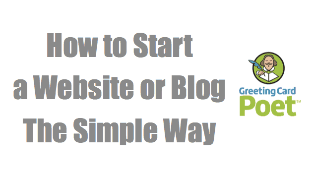 How to start a website or blog image