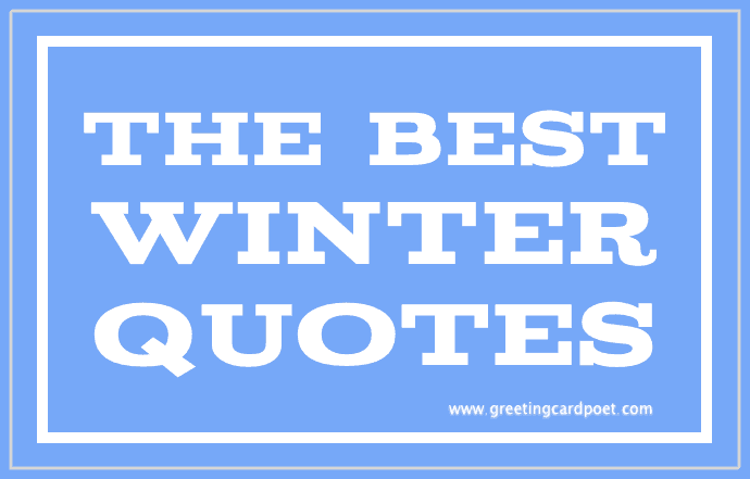 Superb The Best Winter Quotes Image