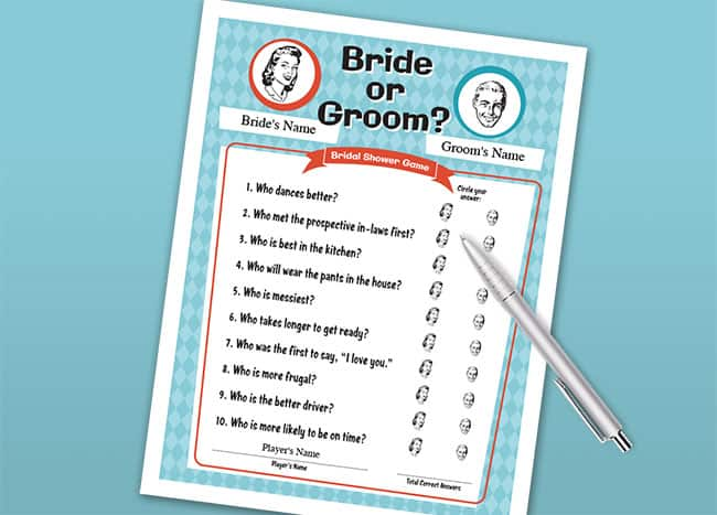 Bride or Groom game image
