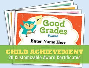 child achievement certificate templates image