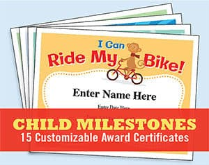 child milestones certificates button