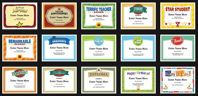 Student certificates templates teacher awards for classroom student certificates templates image happy birthday certificates yadclub