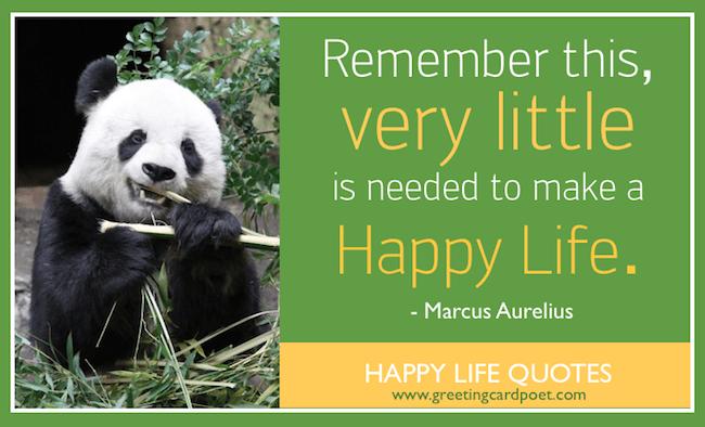 Happy life sayings