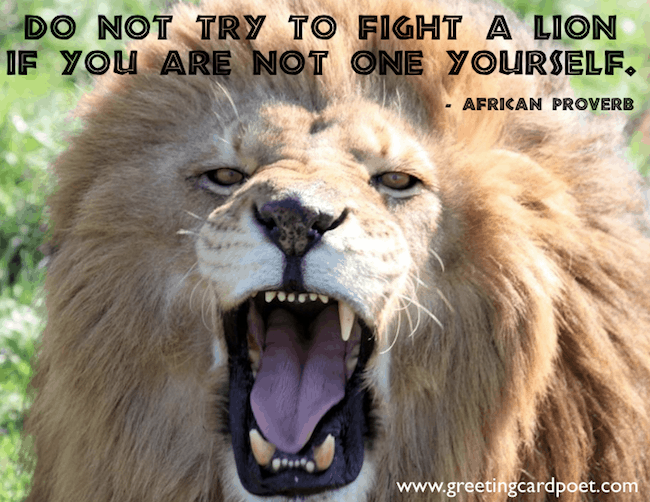 Lion quotes courage