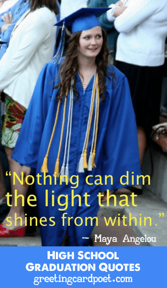 High School Graduation Quotes Funny And Inspirational Awesome Quotes About Graduation