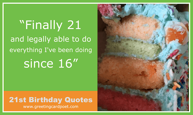 21st Birthday Quotes And Wishes Happy Bday