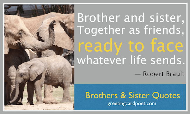 Brother And Sister Quotes And Sayings Greeting Card Poet