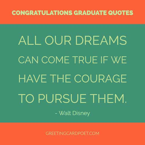 congratulations graduate quote - Walt Disney image