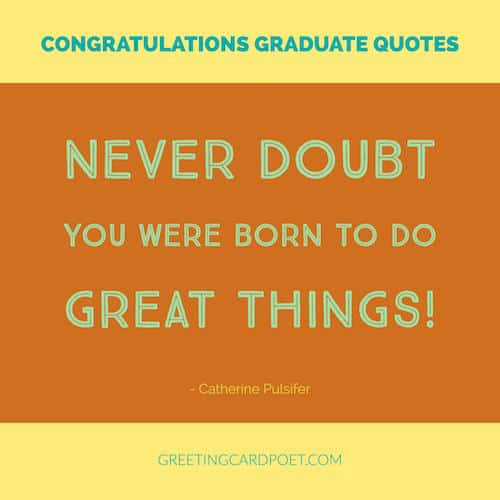 Lovely Graduation Quote For College Or High School Image