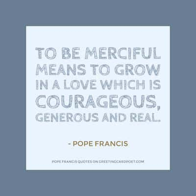 Pope Franics Quotes on Mercy image
