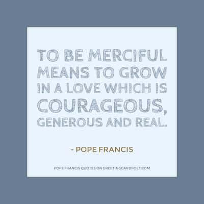 Pope Franics Quotes on Mercy image
