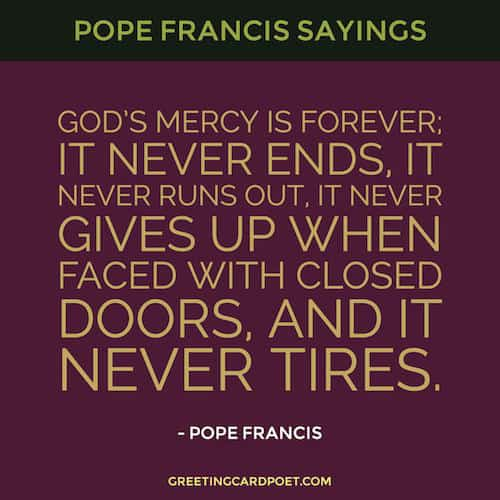 Sayings from Pope Francis image