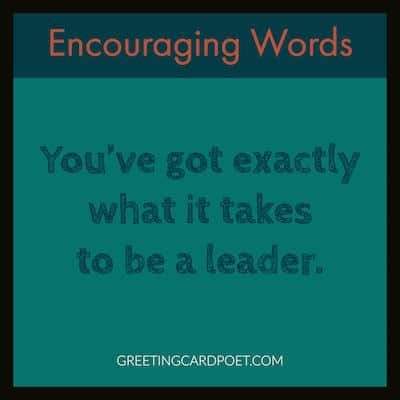 encouraging words - leader image