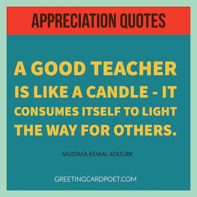 appreciate teachers quotes image