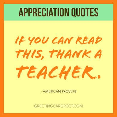 Appreciation Quotes, Sayings and Captions | Greeting Card Poet