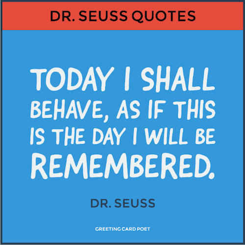 Dr. Seuss on behaving image