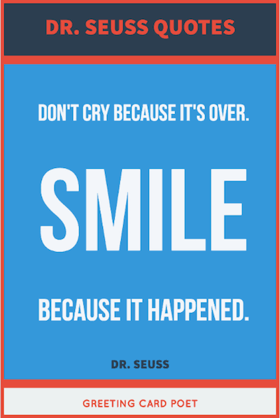 Smile because it Happened image