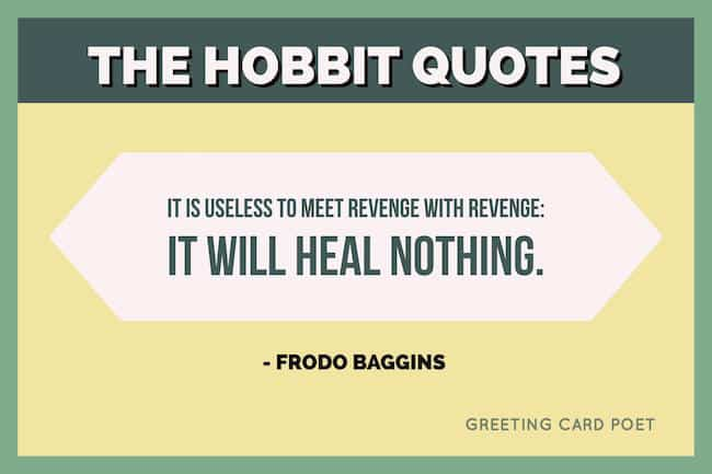 Bilbo Baggins. The Hobbit Quotes Image