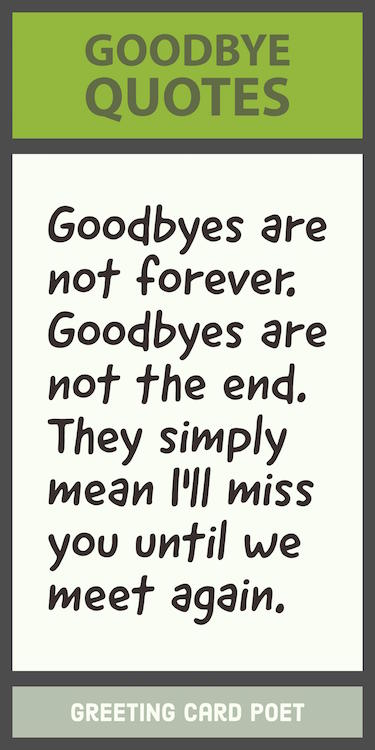 Goodbyes are not forever quote image