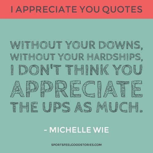 Michelle Wie Appreciation quote image