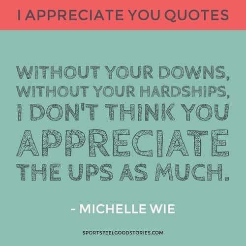 Michelle Wie Appreciation quote image