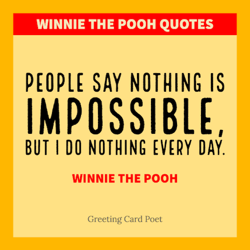 Pooh Bear Quote image