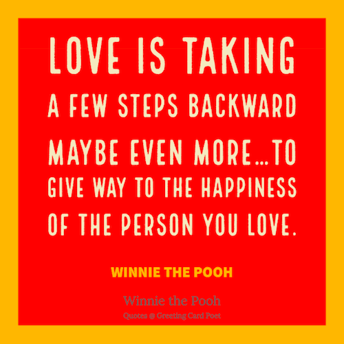 Winnie the Pooh Love is Quote image