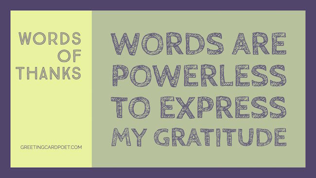 Words of Thanks image