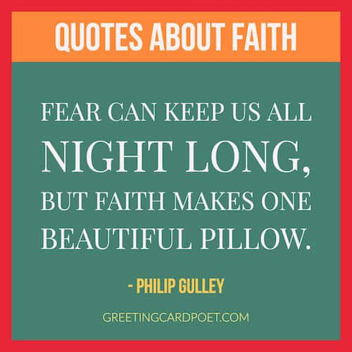 faith and fear quote image