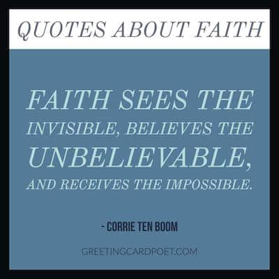 faith sees the invisible quote image