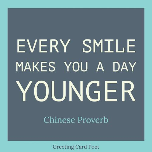 Every smile makes you a day younger image