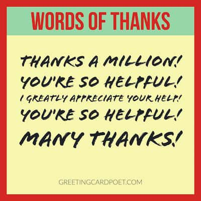 Words of Thanks Messages | How to Express Gratitude & Appreciation