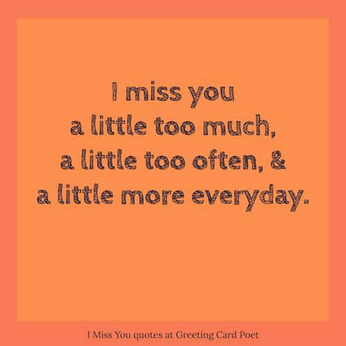 I miss you quotes and missing u sayings greeting card poet miss you quotations image m4hsunfo