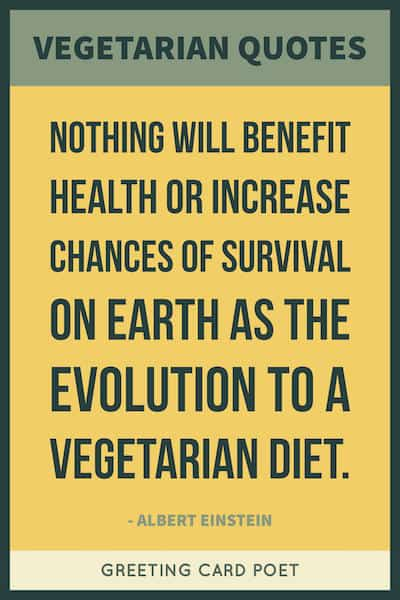 Einstein vegetarian quote image