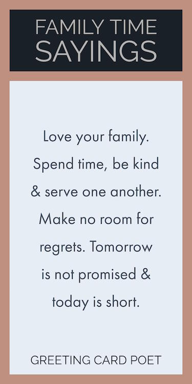 Family Time Sayings Image