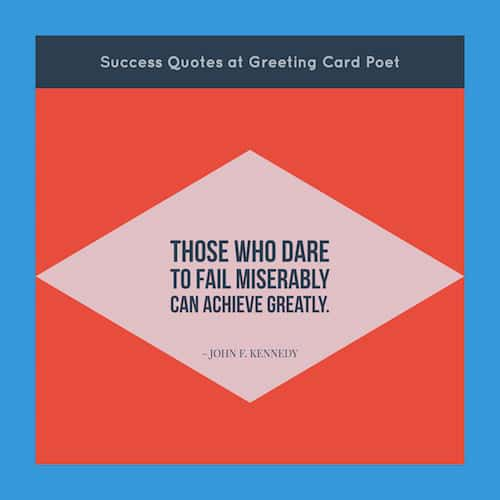 Success Quotes And Sayings Greeting Card Poet