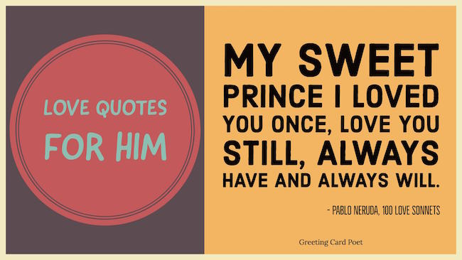 Love quotes for him image