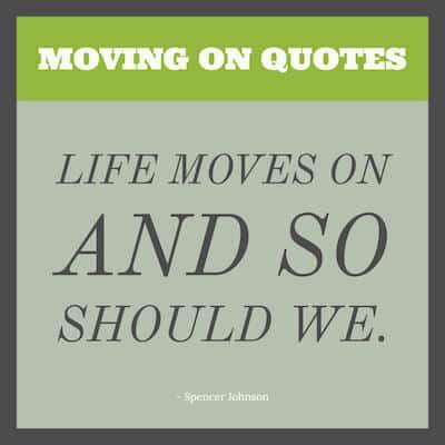 Moving on Sayings image