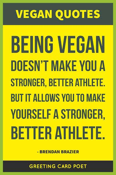 Vegan quote for athletes image