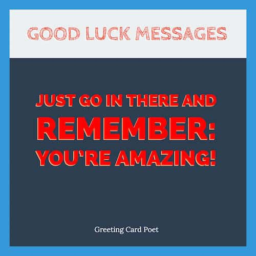 Message of good luck image