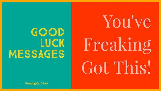 Best good luck messages and sayings greeting card poet good luck messages image m4hsunfo