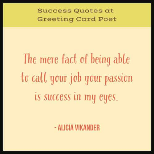 Career success quote image