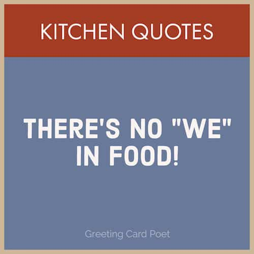 Funny food quotes image
