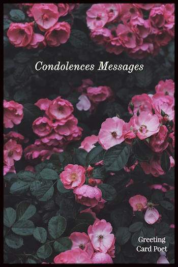 Condolences messages and sayings image