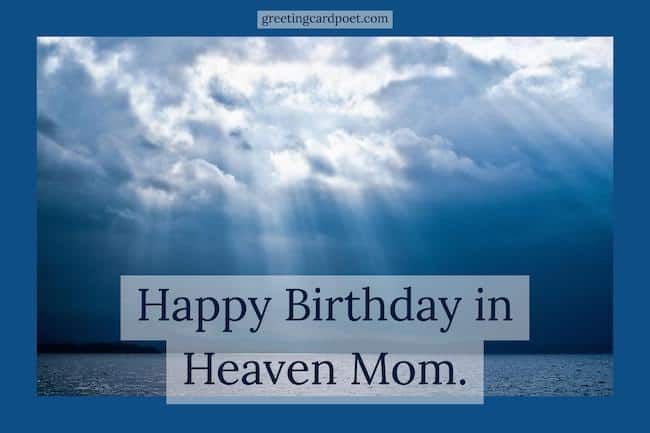 Heaven Bday messages image